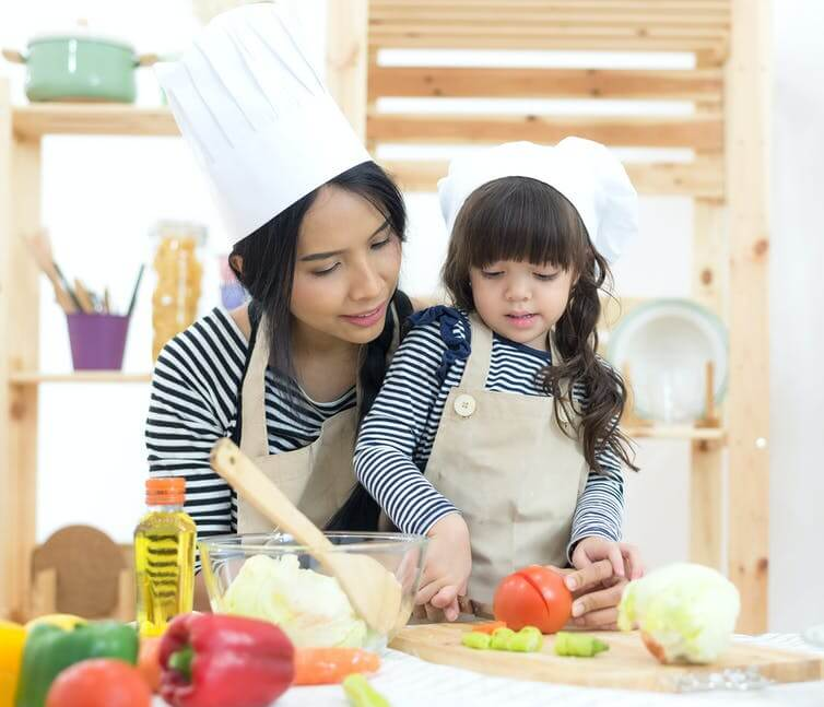 Children as young as two can learn to cook – here are the kitchen skills they can get to grips with